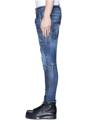 Detail View - Click To Enlarge - Dsquared2 - 'Military' zipper denim pants