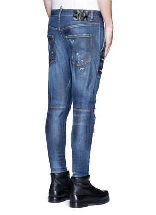 Back View - Click To Enlarge - Dsquared2 - 'Military' zipper denim pants