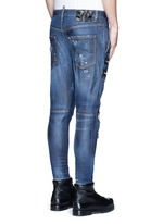 'Military' zipper denim pants