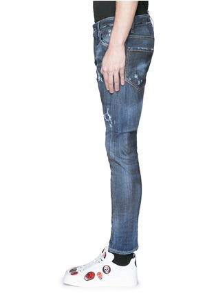 Detail View - Click To Enlarge - Dsquared2 - 'Sexy Twist' rip and repair slim fit jeans