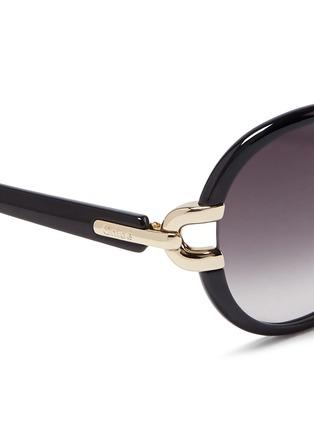 细节 - 点击放大 - CHLOÉ - 金属装饰椭圆框太阳眼镜