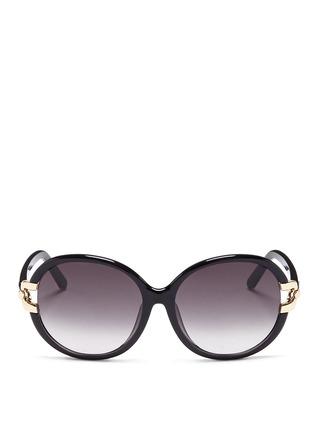 首图 - 点击放大 - CHLOÉ - 金属装饰椭圆框太阳眼镜