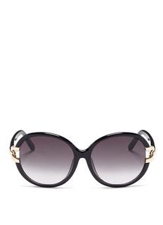 ChloéCutout metal hinge acetate round sunglasses