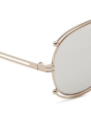 Detail View - Click To Enlarge - Chloé - Metal outline aviator sunglasses