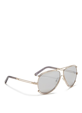 Figure View - Click To Enlarge - Chloé - Metal outline aviator sunglasses