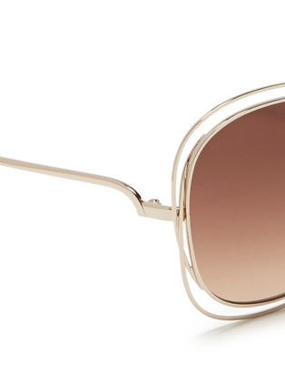 Detail View - Click To Enlarge - Chloé - 'Carlina' overlap wire rim sunglasses
