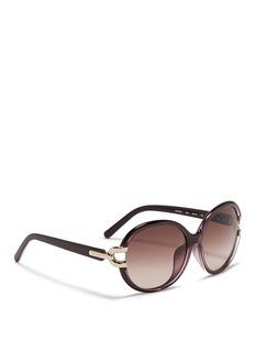 CHLOÉ 金属双框太阳眼镜