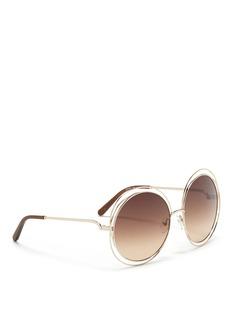 Chloé'Carlina' overlap wire rim round sunglasses