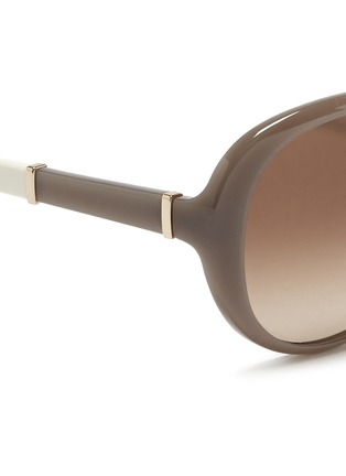 Detail View - Click To Enlarge - Chloé - Colourblock temple acetate round sunglasses