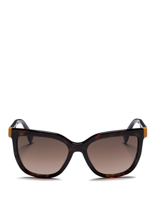 Main View - Click To Enlarge - Fendi - Colourblock temple tortoiseshell acetate sunglasses