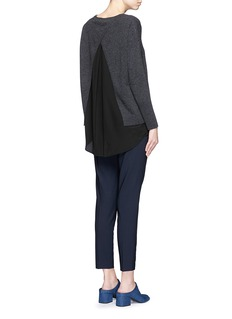 VINCE Open back wool-cashmere sweater