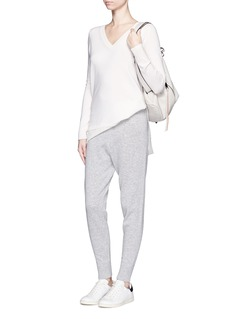 VINCE Wool-cashmere jogging pants