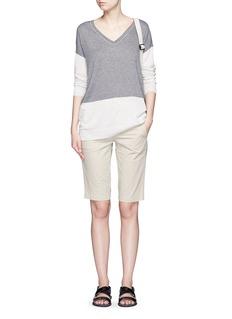 VINCEEasy fit colourblock Merino wool blend sweater