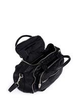 'Eugene' washed leather zip satchel