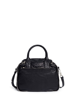 Back View - Click To Enlarge - Alexander Wang  - 'Eugene' washed leather zip satchel