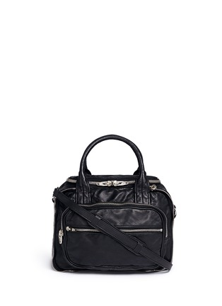 Main View - Click To Enlarge - Alexander Wang  - 'Eugene' washed leather zip satchel