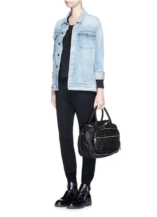 Figure View - Click To Enlarge - Alexander Wang  - 'Eugene' washed leather zip satchel