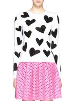 'Carey' rhinestone heart intarsia sweater