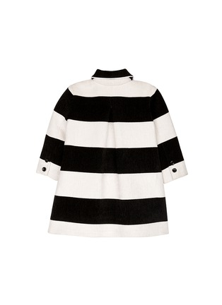 Figure View - Click To Enlarge - alice + olivia - Stripe Peter Pan collar kids peacoat