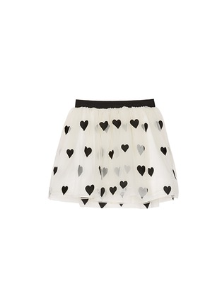 Main View - Click To Enlarge - alice + olivia - Heart appliqué tulle kids skirt