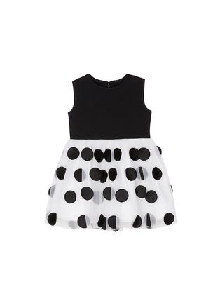 首图 - 点击放大 - ALICE + OLIVIA - 童款圆形刺绣网纱裙摆连衣裙