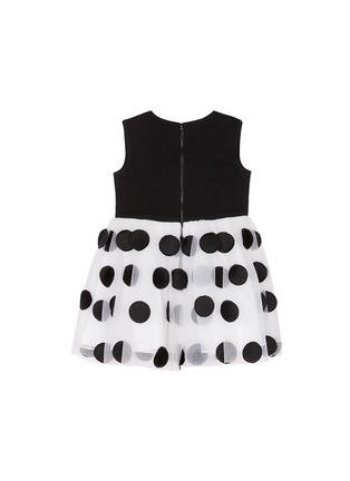 模特儿示范图 - 点击放大 - ALICE + OLIVIA - 童款圆形刺绣网纱裙摆连衣裙