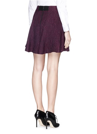 Back View - Click To Enlarge - alice + olivia - 'Sibel' embroidered flare skirt
