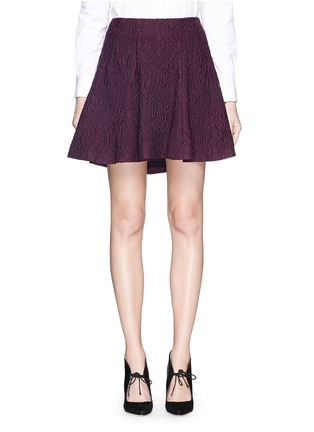Main View - Click To Enlarge - alice + olivia - 'Sibel' embroidered flare skirt