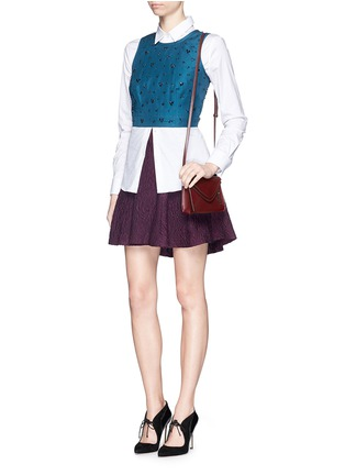 Figure View - Click To Enlarge - alice + olivia - 'Sibel' embroidered flare skirt