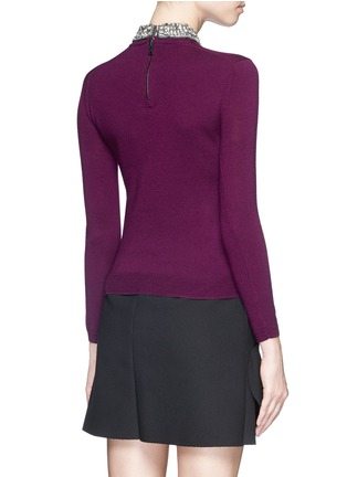 Back View - Click To Enlarge - alice + olivia - 'Rosalind' strass bead collar wool sweater