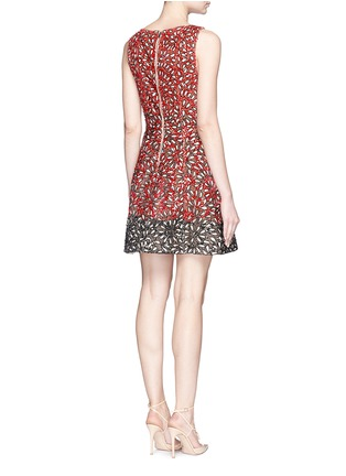 Back View - Click To Enlarge - alice + olivia - 'Carrie' beaded flare dress