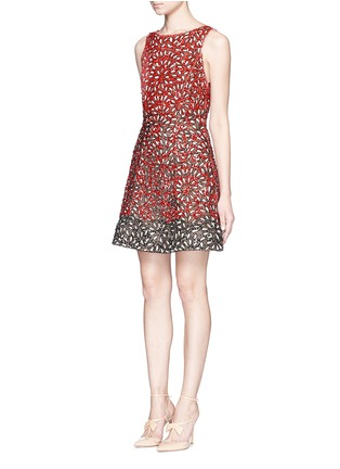 Front View - Click To Enlarge - alice + olivia - 'Carrie' beaded flare dress