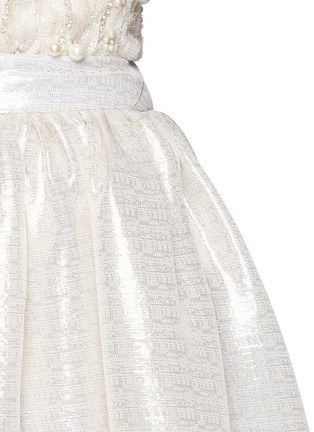Detail View - Click To Enlarge - alice + olivia - 'Abella' metallic lamé ball gown skirt