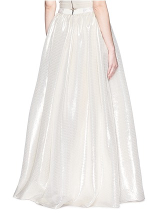 Back View - Click To Enlarge - alice + olivia - 'Abella' metallic lamé ball gown skirt