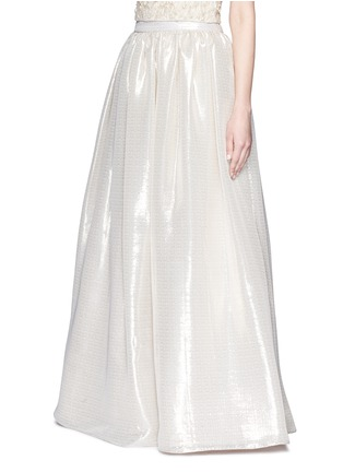 Front View - Click To Enlarge - alice + olivia - 'Abella' metallic lamé ball gown skirt