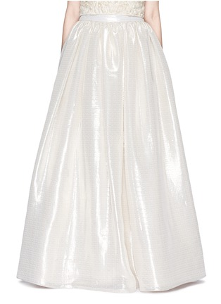 Main View - Click To Enlarge - alice + olivia - 'Abella' metallic lamé ball gown skirt