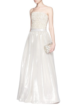 Figure View - Click To Enlarge - alice + olivia - 'Abella' metallic lamé ball gown skirt