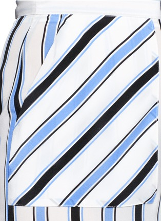 Detail View - Click To Enlarge - MSGM - Multi stripe silk wide leg pants