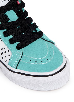 Detail View - Click To Enlarge - Vans - 'SK8-Hi Zip' star print canvas suede kids sneakers