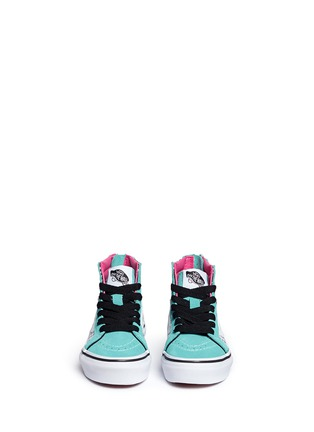 Figure View - Click To Enlarge - Vans - 'SK8-Hi Zip' star print canvas suede kids sneakers