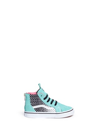 Main View - Click To Enlarge - Vans - 'SK8-Hi Zip' star print canvas suede toddler sneakers