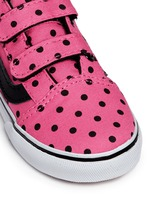 'Old Skool V' polka dot canvas toddler sneakers