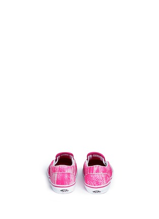 Back View - Click To Enlarge - Vans - 'Classic' brushed paint stroke print suede toddler slip-ons
