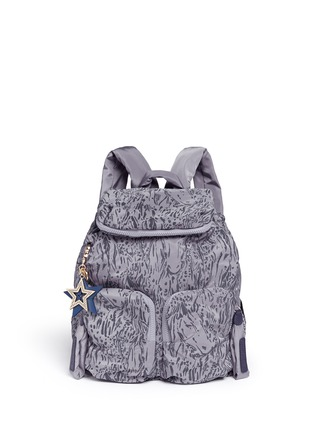 Main View - Click To Enlarge - See by Chloé - 'Joy Rider' streak print nylon backpack