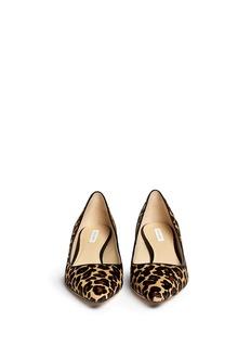 COLE HAAN'Bradshaw' leopard calf hair wedge pumps