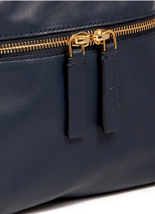 Detail View - Click To Enlarge - Marni - 'Backpack' mini colourblock leather bucket bag