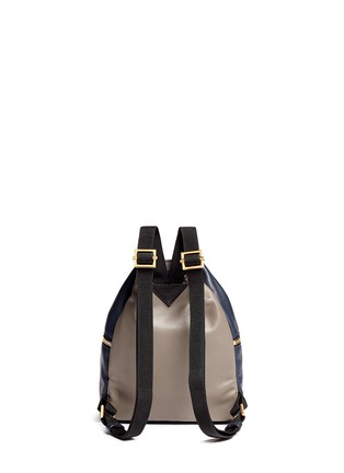 Back View - Click To Enlarge - Marni - 'Backpack' mini colourblock leather bucket bag