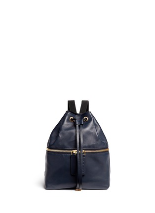 Main View - Click To Enlarge - Marni - 'Backpack' mini colourblock leather bucket bag