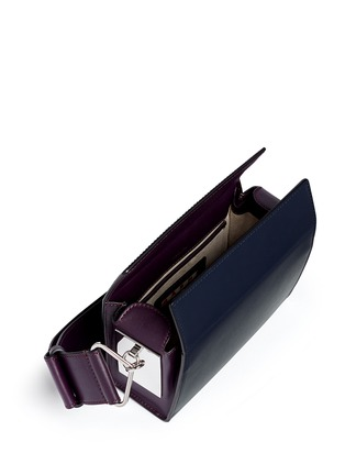 Detail View - Click To Enlarge - Marni - 'Box' mini magnetic flap colourblock leather shoulder bag
