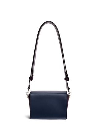 Back View - Click To Enlarge - Marni - 'Box' mini magnetic flap colourblock leather shoulder bag